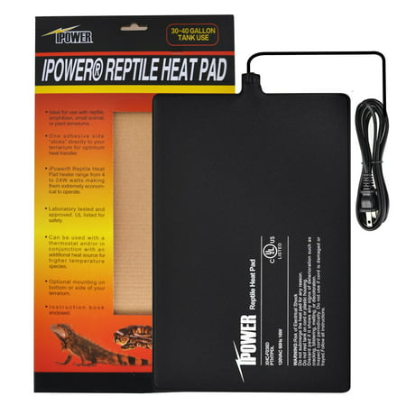 """iPower 8""""x12"""" Under Tank Heater for Reptile Terrariums Heat Mats-16 Watts"""