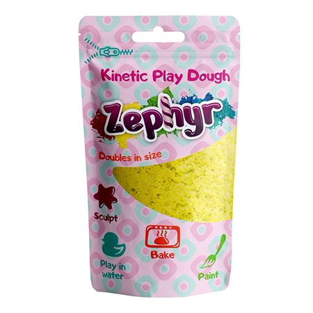 Zephyr Kinetic Play-Dough in Doy Pack (Yellow) Kinetic plasticine Modeling Clay Polymer Clay Could be Baked](Halloween Plasticine Models)