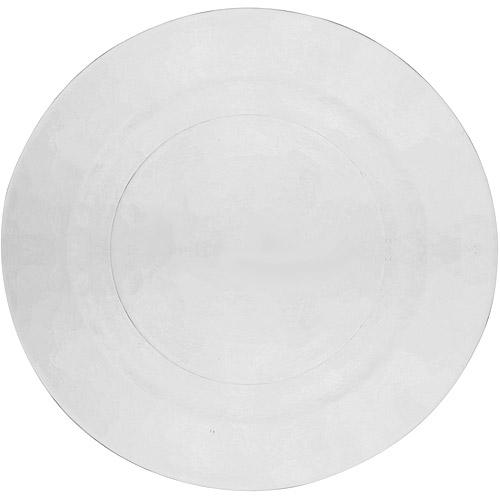 "10 Strawberry Street Hammered Glass 8.25"" Salad/Dessert Plates, Set of 6, Clear"