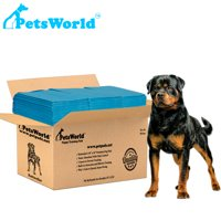 PETSWORLD Rottweiler's Heavy Absorbent Adult Dog Pads | 30 X 36 Inches, Dog Pee Pads, Up To 5 Cups Of Liquid | 50 Count Dog Pads training Puppy Pads 2-extra Large