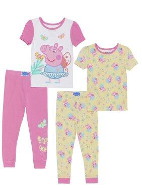 Peppa Pig Cotton tight fit pajamas, 4pc set (toddler girls)