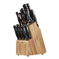 Miracle Blade World Class 18 Piece Knife Set, Kitchen Knives with Wood Block