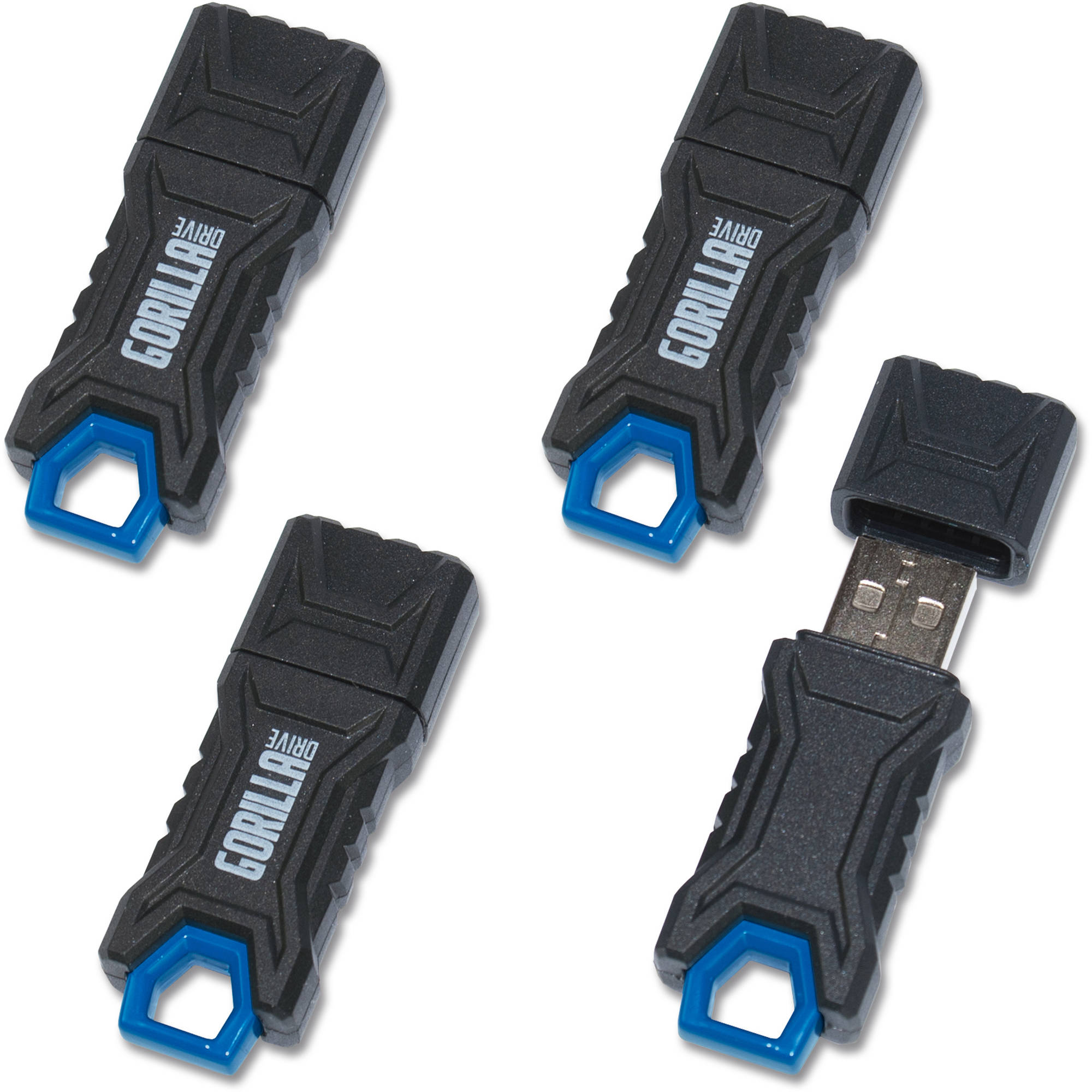 EP GorillaDrive 64GB Rugged USB Flash Drive, 4-Pack