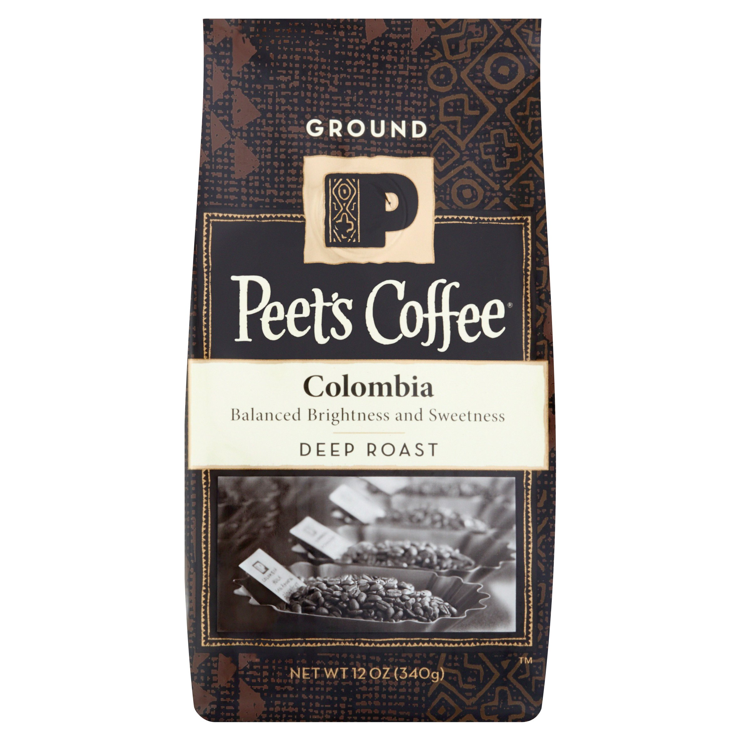 Peet's Coffee Colombia Deep Roast Ground Coffee, 12 oz