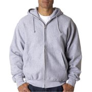 Weatherproof 7711 Adult Cross Weave Full-Zip Hooded Sweatshirt - Heather, 3XL