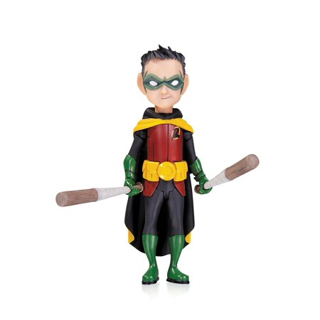 Lil Batman And Robin (Batman: Lil Gotham: Robin Mini Action Figure, Based on the art of Dustin Nguyen By DC Collectibles Ship from)