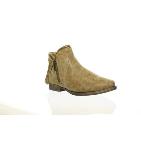 - New JG Womens Fringe Chestnut Booties Size 7