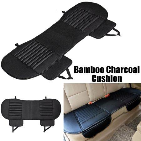 54''x19'' Universal Dustproof Waterproof PU Leather Bamboo Charcoal Auto Car Vehicle Interior Rear Seat Cover Cushion Pad ()
