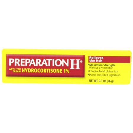 5 Pk Preparation H Anti-Itch Crème hydrocortisone Force 1% maximum 0,9 oz Ea