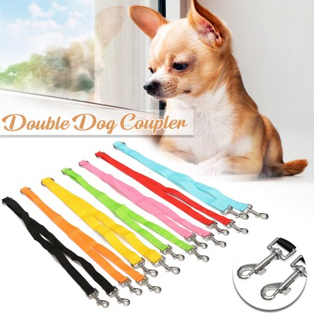 No Tangle Dog Pet Wear Retractable Leash Coupler , Dual Double Dog Adjustable Splitter Lead for Two Dogs Durable Walker and Trainer Leash ? 7 colors ?