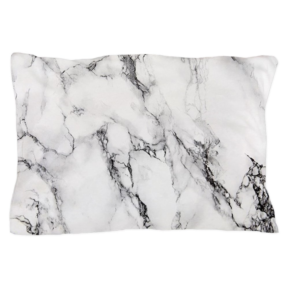 "CafePress White Marble Standard Size Pillow Case, 20""x30"" Pillow Cover, Unique... by"