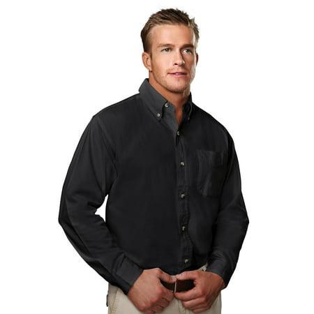 Tri-Mountain Regency 790 Cotton Peached Twill Shirt, 2X-Large, Black/Camel