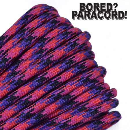 Bored Paracord Brand 550 lb Type III Paracord - Candy Snake 1000 Feet