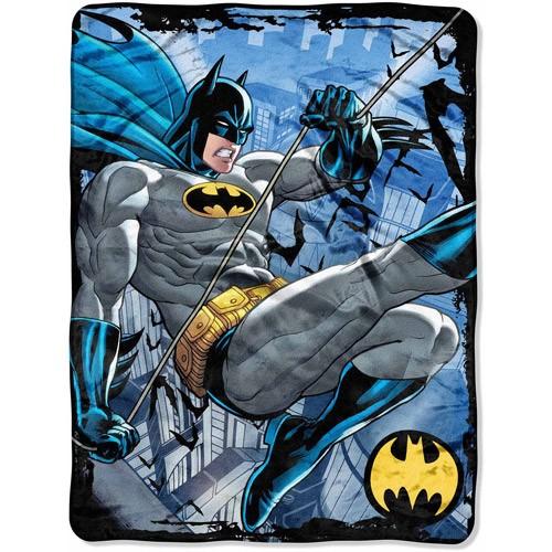 """Batman Rooftop Swing 46"""" x 60"""" Micro Raschel Throw"""