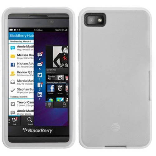 Blackberry Z10 MyBat Solid Skin Cover, White