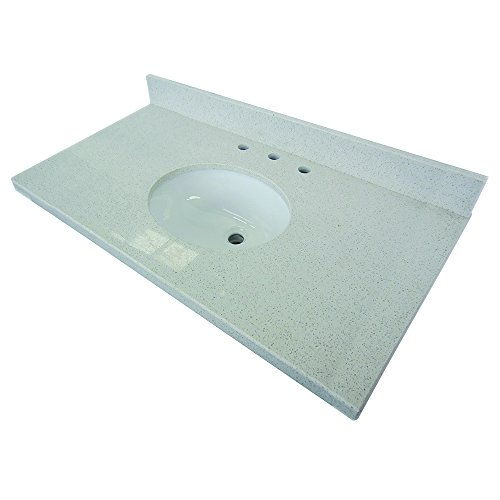 Kingston Fauceture KVPB3622M38 White Quartz Vanity with T...