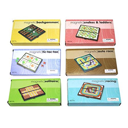 Mini Magnetic Board Games - Set Of 12 Individually Packaged Travel Games - Checkers Chess Solitaire Tic Tac Toe And Much More - image 2 de 4