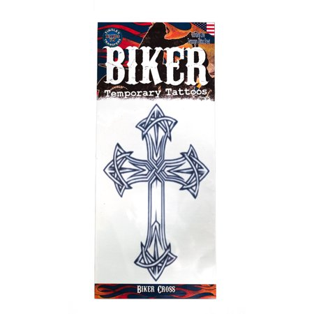 Tinsley Transfers Biker Cross Temporary Tattoo FX
