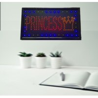 Creative Motion Electrical Princess LED Sign, Hang around any Room, Attent gathering, Moving Sign. Product Size: 23.62x 12.99 x 0.75