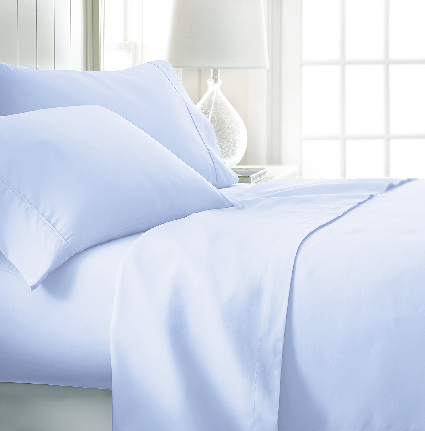 Modern Home Microfiber Bed Sheet Set, 110 GSM (3 or 4-Piece)