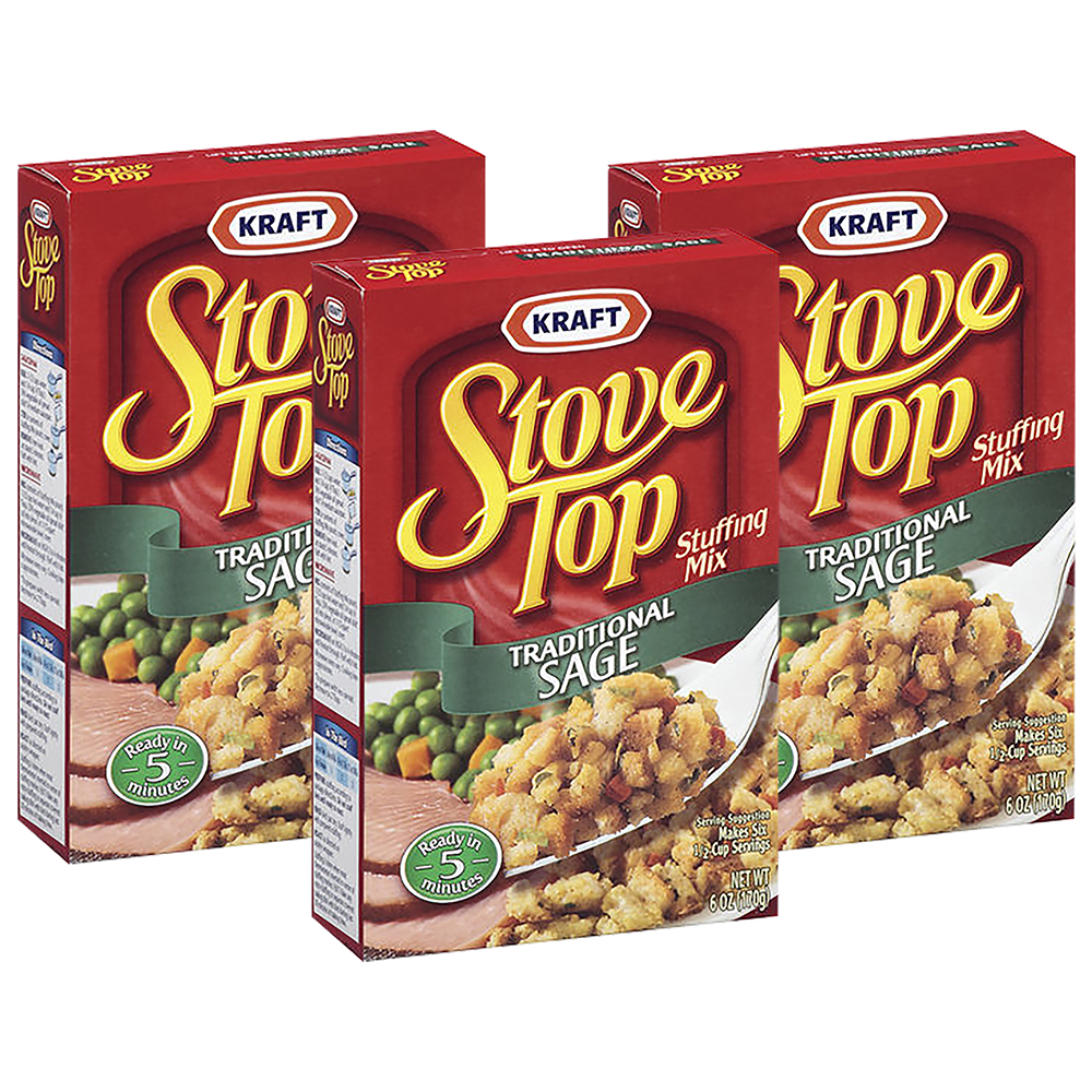 Stove Top Traditional Sage Stuffing Mix, 6 oz (3 Packs)