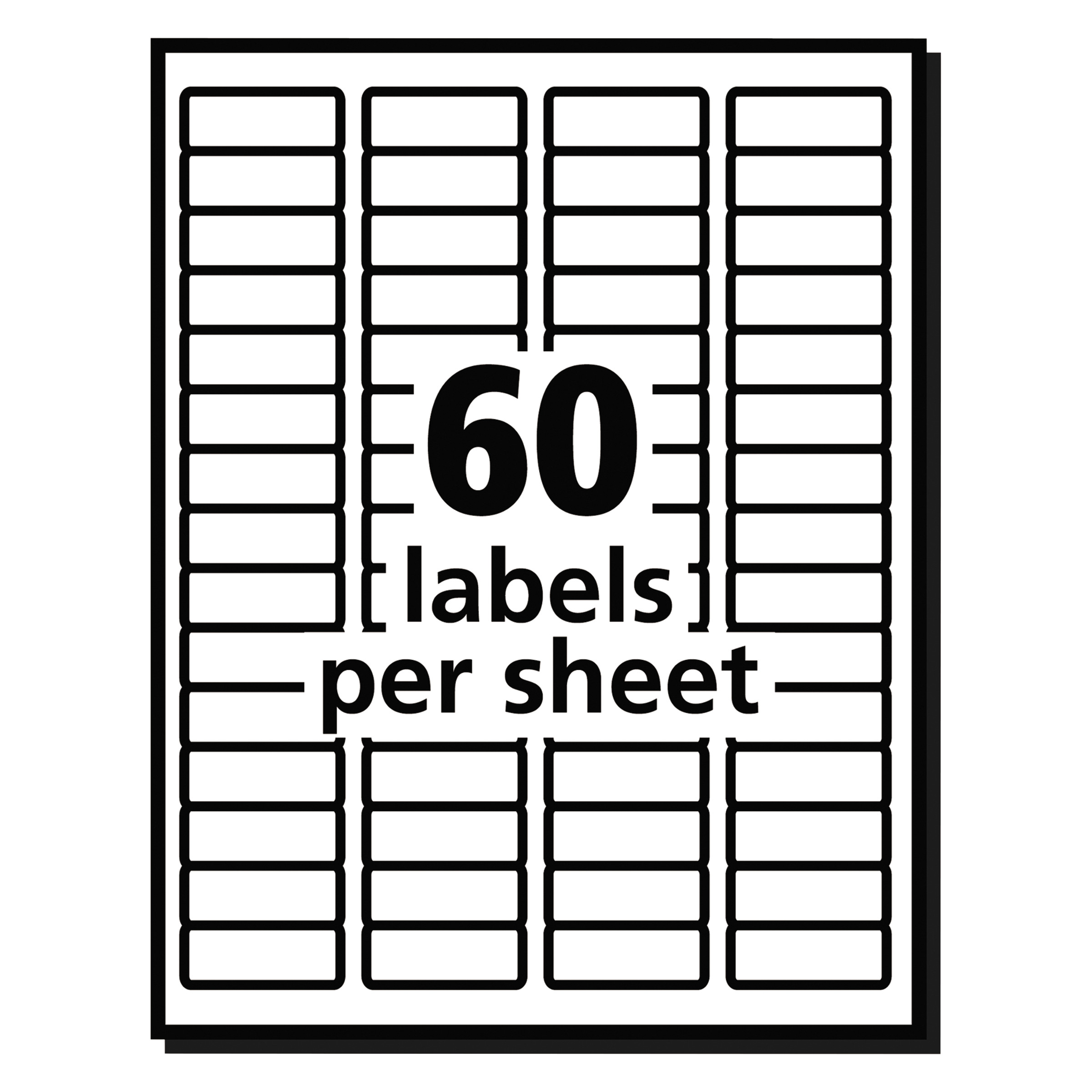 8195 template - Avery Easy Peel White Return Addess Labels For Inkjet Printers 8195 2 3 X 1 3 4 Pack Of 1500 Walmart Com