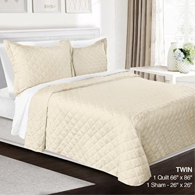 3 Piece Quilt Set Twin Size By Clara Clark Luxury