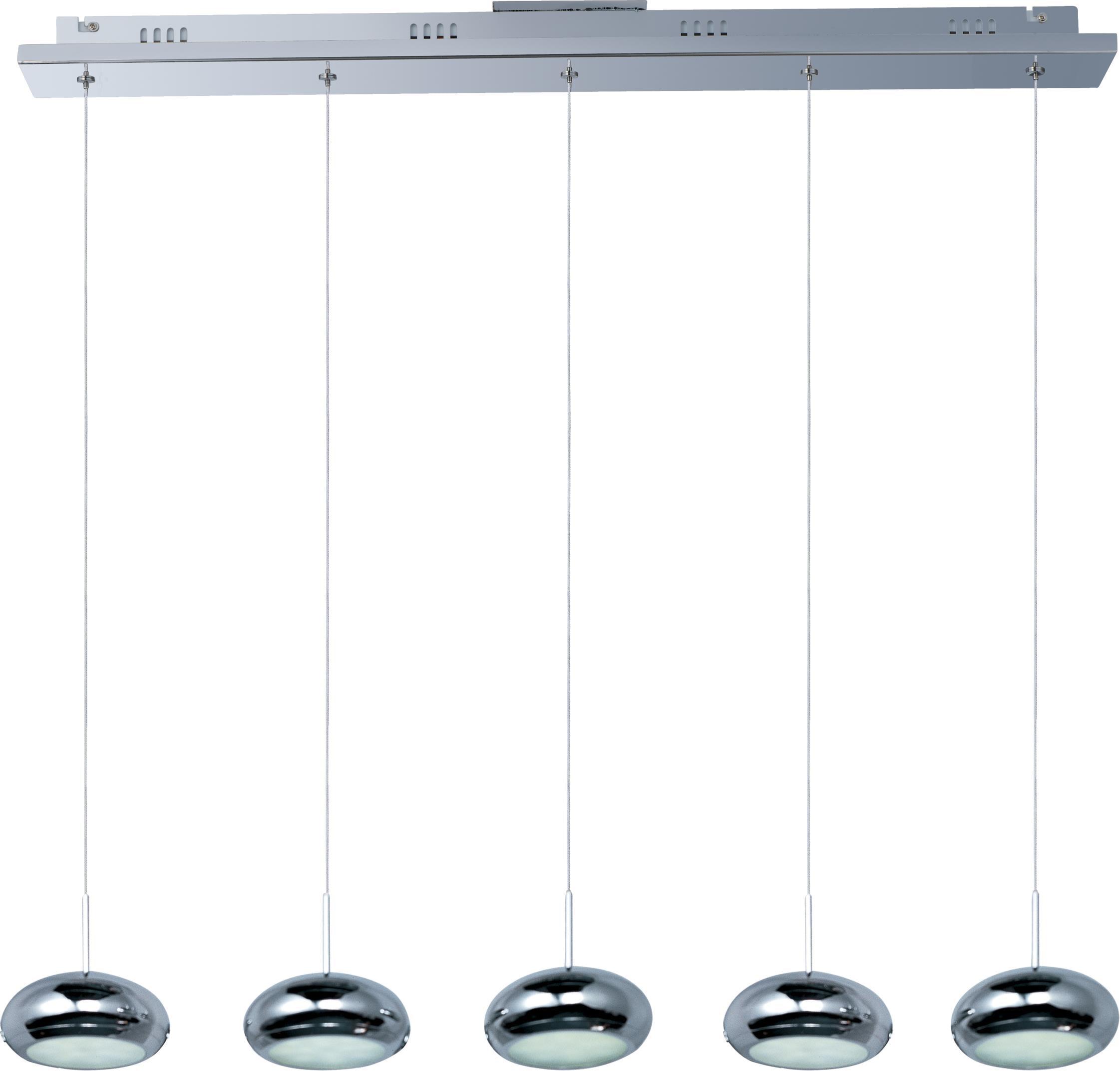 ET2 E22255-PC Dial 5 Light LED Foyer Pendant, Polished Chrome