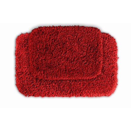 somette serenity chili pepper red 2 piece bath rug set. Black Bedroom Furniture Sets. Home Design Ideas