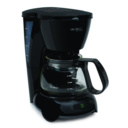 Mr. Coffee Simple Brew 4 Cup Switch Coffee Maker, Black TFS Series