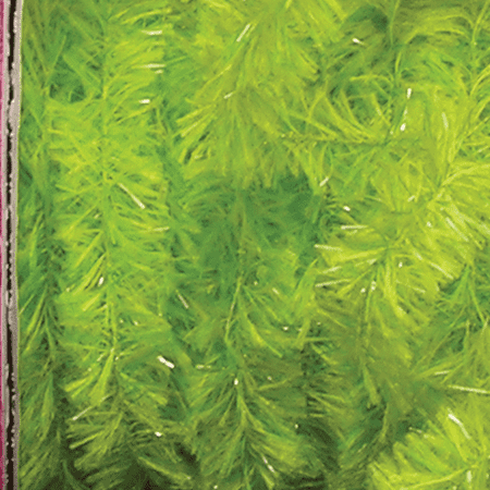 - Fresh Lime Green Fuzzy Boa Wired Polyester & Nylon Decorative Ribbon .75