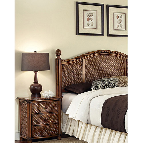 Home Styles Marco Island Queen/Full Headboard and Night Stand, Cinnamon