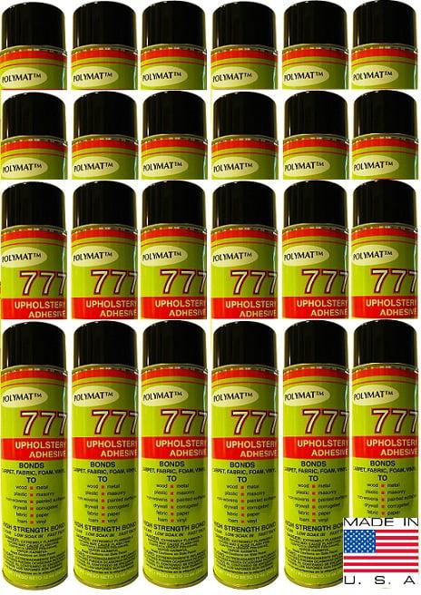 QTY 24 POLYMAT 777 Spray Glue Multipurpose Bond Adhesive for Drywall by POLYMAT