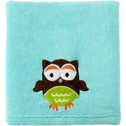 Little Bedding by Nojo Applique Owl Blanket