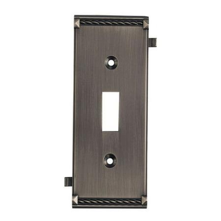Elk Lighting Clickplates Middle Switch Plate in Antique Platinum (Elk Lighting Plate)