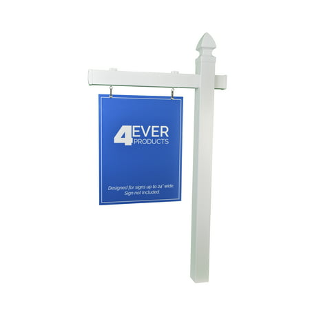 Decorative Sign Posts - Real Estate Sign Post with Stake 5 Foot w 36 inch arm Gothic Cap