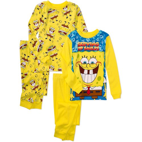 nickelodeon nickelodeon boys spongebob squarepants 4 piece