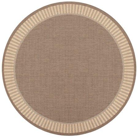 Couristan Recife Wicker Stitch Rug, Cocoa/Natural