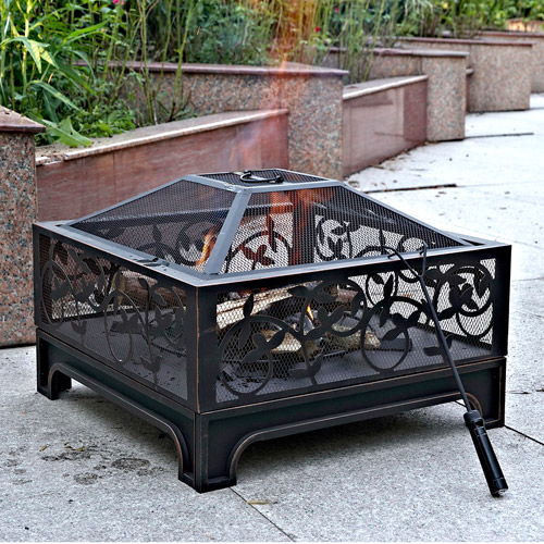 "Montreux 26"" Square Steel Fire Pit"
