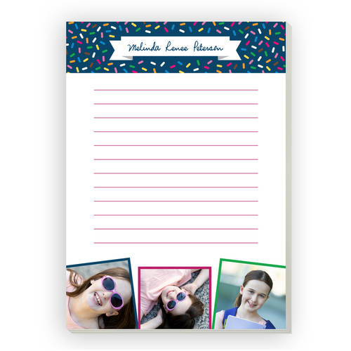 Sprinkle Pattern Personalized Notepad