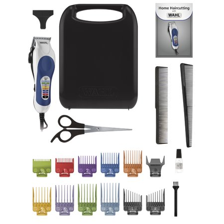 Wahl Corded Color Pro Color Coded Haircut Hair Clipper Kit, 20Pc, Model 79300-400T