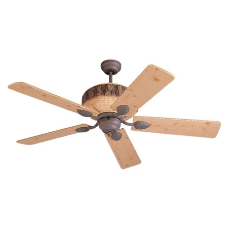 Monte Carlo 5GL52WI Great Lodge 52 in. Indoor Ceiling Fan - Weathered (Monte Carlo Ceiling Iron)