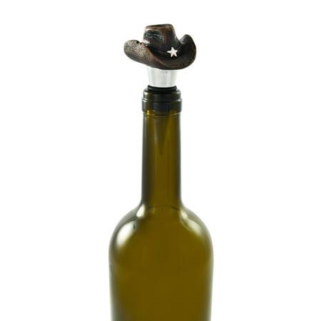 wine bottle wine stoppers, Cowboy Hat decorative reusable funny bottle (Decorative Wine Bottle Stoppers)