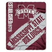 """NCAA Mississippi State Bulldogs 50"""" x 60"""" Fleece"""