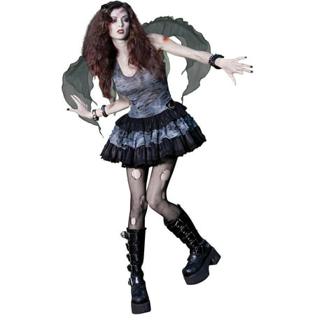 Zombie Fairy Teen Halloween Costume (Fairy Costume For Teens)