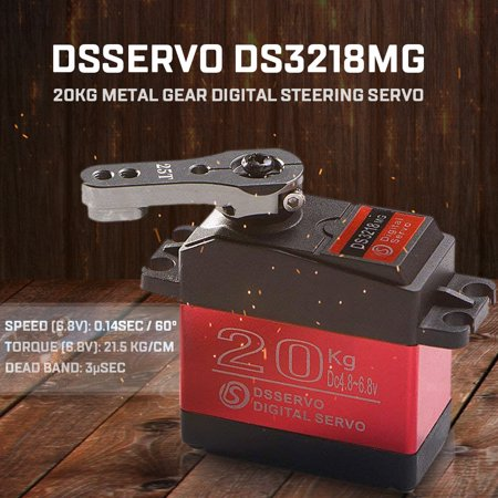 DSSERVO DS3218MG 20kg Metal Gear Digital Steering Servo for RC Baja Car Truck Boat Airplane Helicopter Model Airplane Servo