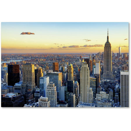 trademark fine art nyc at sunset canvas art by philippe hugonnard