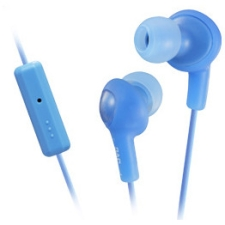 JVC Gumy Plus Inner Ear Headphones With Remote & Mic - Blue