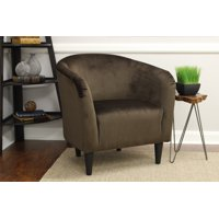 Deals on Mainstays Microfiber Tub Accent Chair