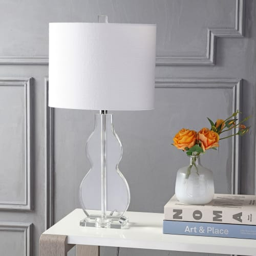 "Hadley 26"" Crystal LED Table Lamp, Clear by JONATHAN Y"